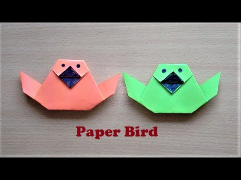 Very Easy way to Make Paper Bird Origami - How to make Origami Bird