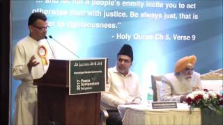 Fr. Victor Lobo at Bangalore Peace Symposium 2017 by Ahmadiyya Muslim Community