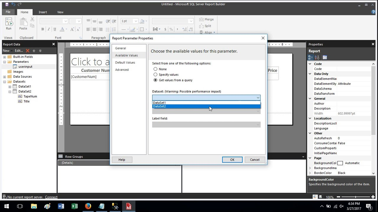 How To Create a Parameter Report in SQL Server Report Builder