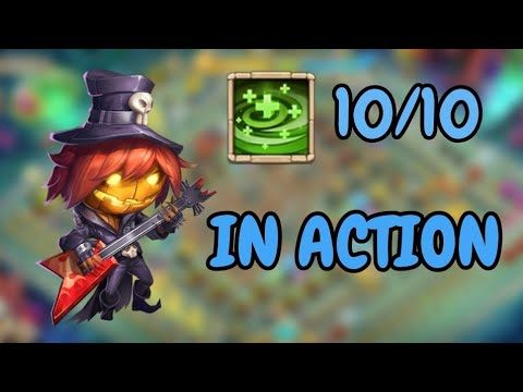 10/10 Regenerate Pumpkin Duke In Action L Castle Clash