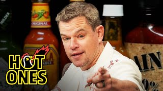 Matt Damon Sweats From His Scalp While Eating Spicy Wings