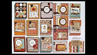 Echo Park Celebrate Autumn - 29 cards from one 6x6 paper pad