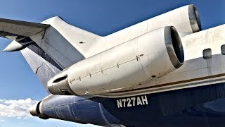 Derelict ex-Pan Am Boeing 727-21 Flies Out of VNY Again!