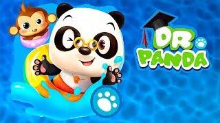 МАЛЫШ доктор панда в АКВАПАРКЕ Кошка УТОНУЛА в БАССЕЙНЕ мультики ИГРЫ для детей BABY PANDA GAMES
