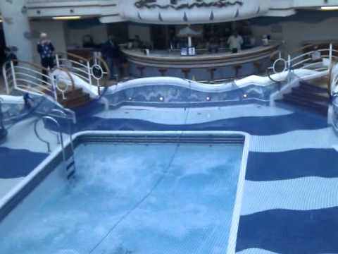 Swimming pool on grand princess cruise ship rough weather