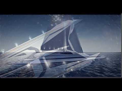The concept of super luxury yachts runs green energy