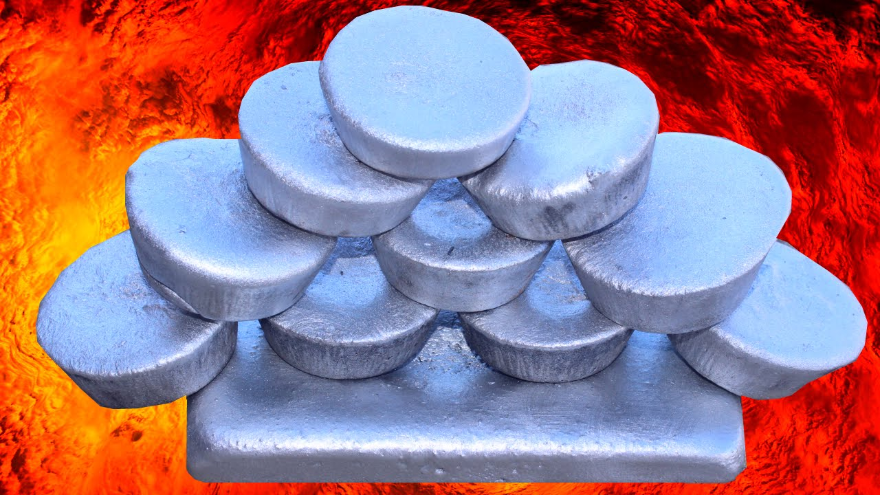 melting cans turns into molten aluminum how to make ingots metal