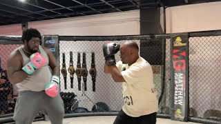 """I Boxed My Brother 400 Pound Body Guard . """" I GOT KNOCKED OUT !!! """""""