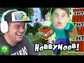 Minecraft HobbyNOOB Adventure with TNT Tower Challenge HobbyKidsGaming