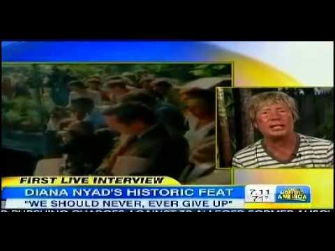 ▶ Diana Nyad Interview after Historic Swim 'Never ever give up' Moving Inspirational GMA Robin Rober