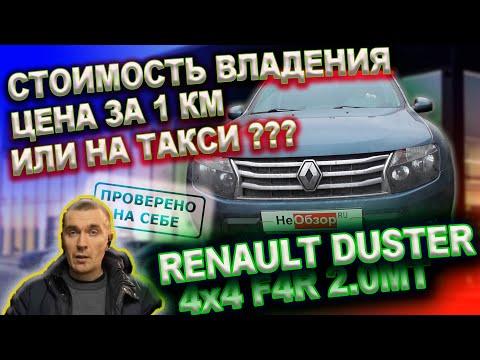Стоимость владения автомобилем (Renault DUSTER 2015) цена за 1 км, на такси дешевле?