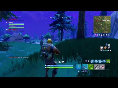 Fortnite amazing plays (sorry for the lag)