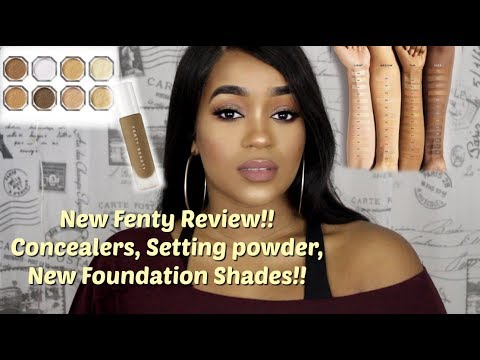New Fenty Foundation Shade 385 | Concealers + Setting Powders | Terria Lewis