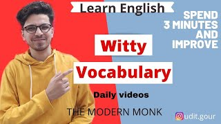 Witty vocabulary   learn 3 new english ...