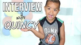 GET TO KNOW QUINCY! Interview with a 4 year old! Sensational Finds