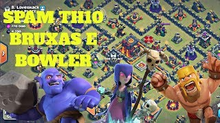 PT TH10 SPAM BRUXAS E BOWLER NA GUERRA CLASH OF CLANS