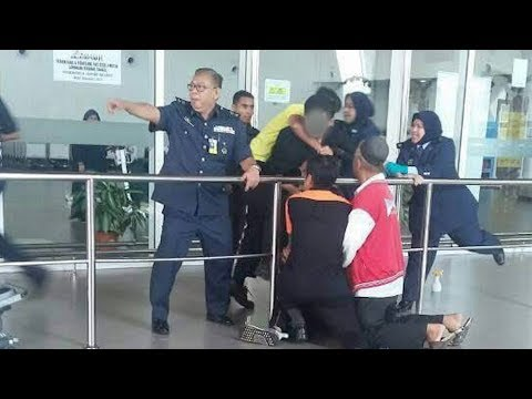 Video of dramatic arrest at Sandakan airport goes viral