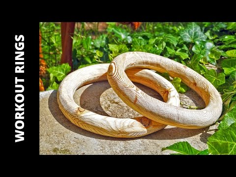 How to make wooden gymnastic rings for workout