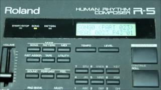 Роланд Р-5 людини ритм композитор фабрики демо-пісні і встановлених килимок для банків