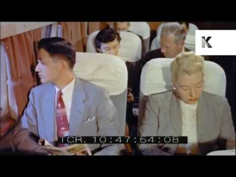 japan-airlines-plane-1950s,-passengers-boarding,-plane-food,-glamorous-travel