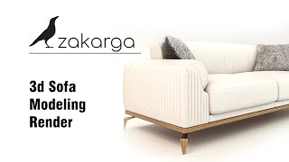 3d Sofa and Armchair Modeling I #1