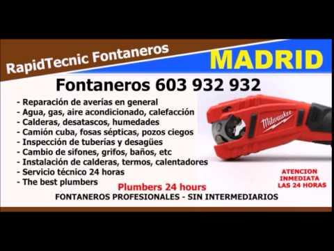 Fontaneros vallehermoso madrid 603 932 932 youtube - Fontaneros en madrid ...