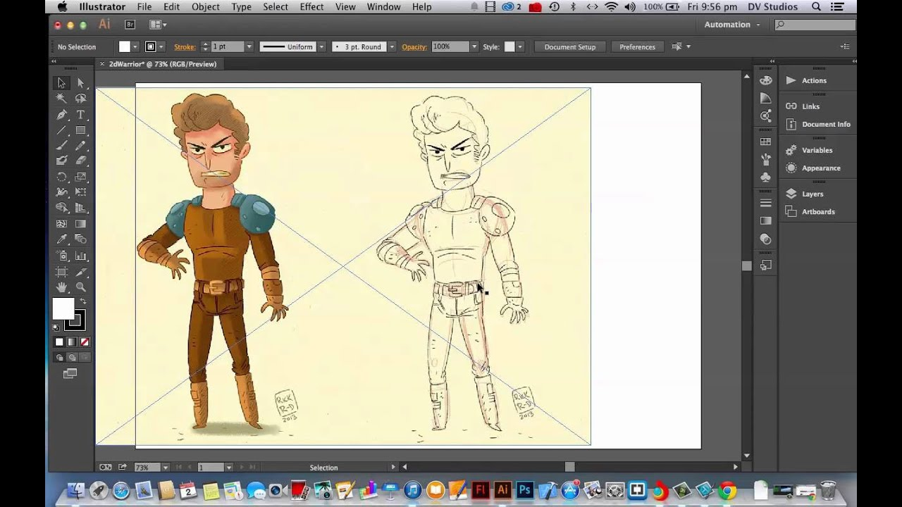 Character Design Tutorials In Illustrator : Creating a character in adobe illustrator part youtube