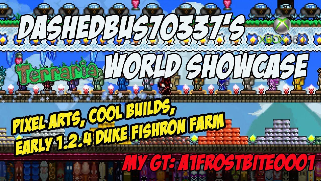 Dashedbus70337 s terraria xbox 360 world showcase epic builds duke
