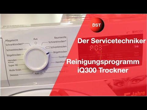 Bosch, Siemens Trockner Reinigen Spülprogramm Mit Touchdisplay