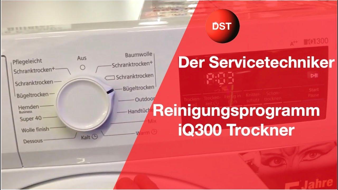 Bosch, Siemens Trockner reinigen Splprogramm mit ...