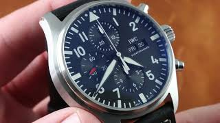 IWC Pilot's Watch Chronograph IW3777-09 Luxury Watch Review