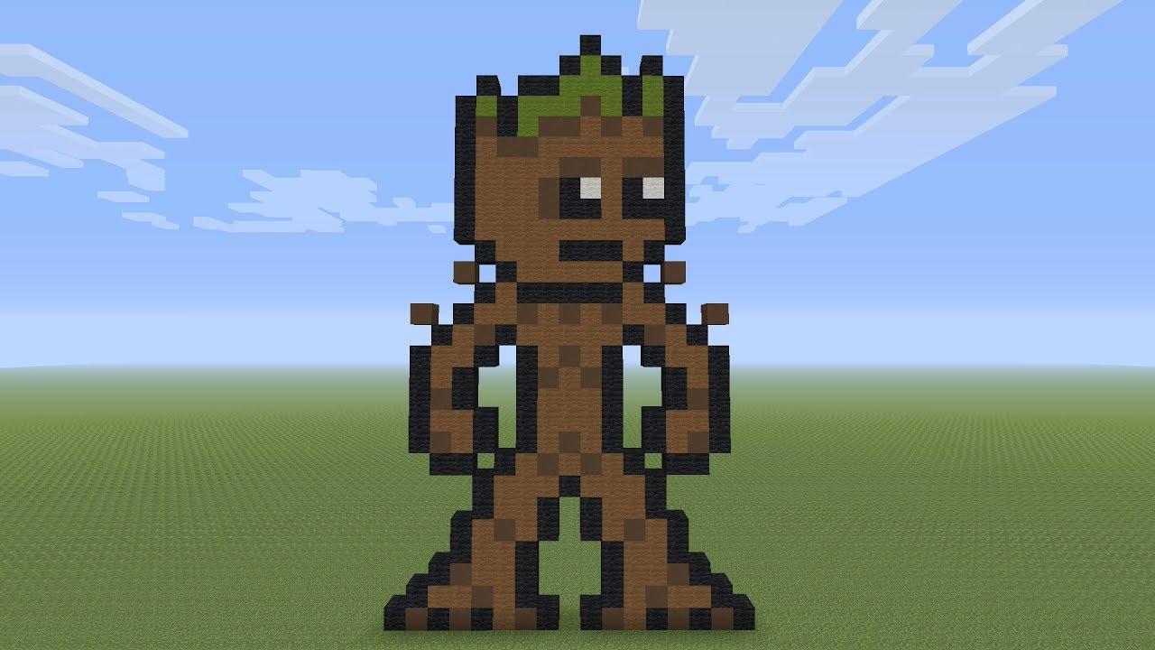 Minecraft Pixel Art Teenage Groot
