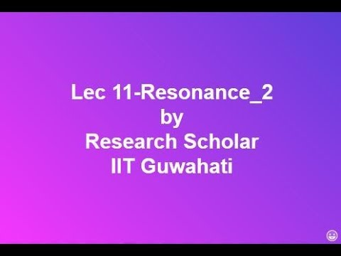 Lec 11-Series Resonance & Parallel Resonance part-2,Electrical Circuits/Networks