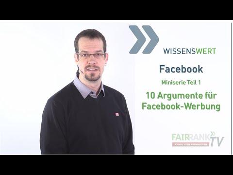 Facebook-Werbung: 10 Gründe, die dafür sprechen - Miniserie Teil 1  | FAIRRANK TV - Wissenswert