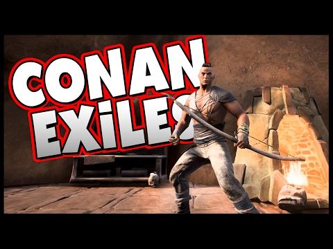 SANDSTORM! Blacksmith Furnace, Iron, & Light Armor! - (Conan Exiles Part 7)