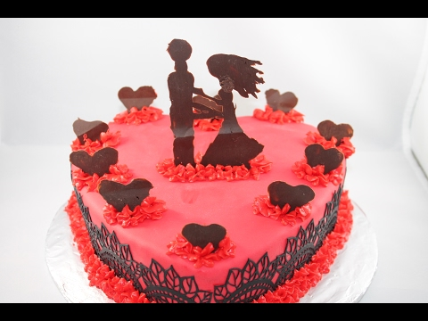Dancing Couple Valentine's Day Cake