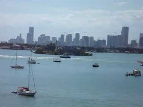Yachts crossing Biscayne Bay, Miami Beach