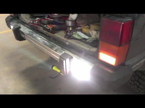 89 Cherokee KC Backup Light Install YouTube – Jeep Backup Light Wiring