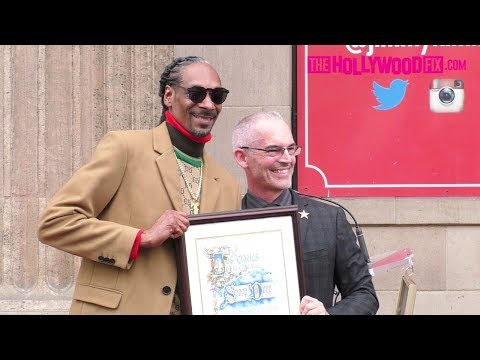 Snoop Dogg Grants An Acceptance Speech At His Hollywood Walk Of Fame Ceremony 11.19.18