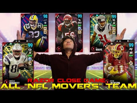 "ALL ""NFL MOVERS"" TEAM! MADDEN 17 ULTIMATE TEAM"