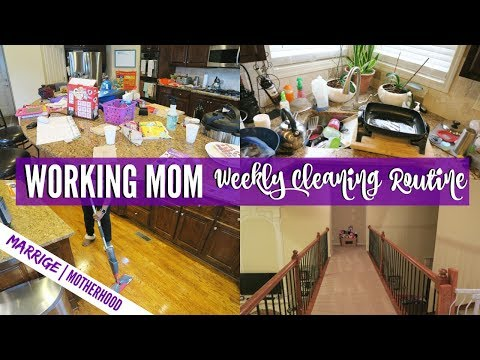 Cleaning Schedule For Working Moms That HATE CLEANING   Cleaning Motivation   Speed Clean With Me