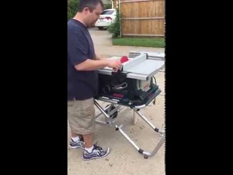Bosch 4000 table saw with ts2000 stand youtube bosch 4000 table saw with ts2000 stand greentooth Choice Image