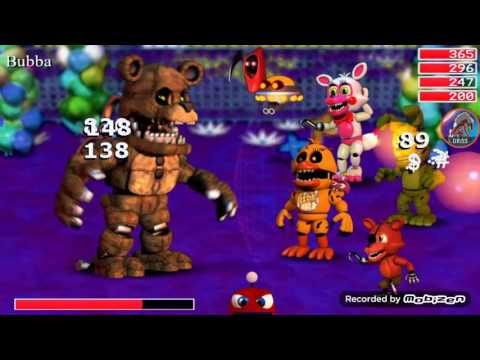 Fnaf world mobile vs bubba and porkpatch and redbear (read desc)