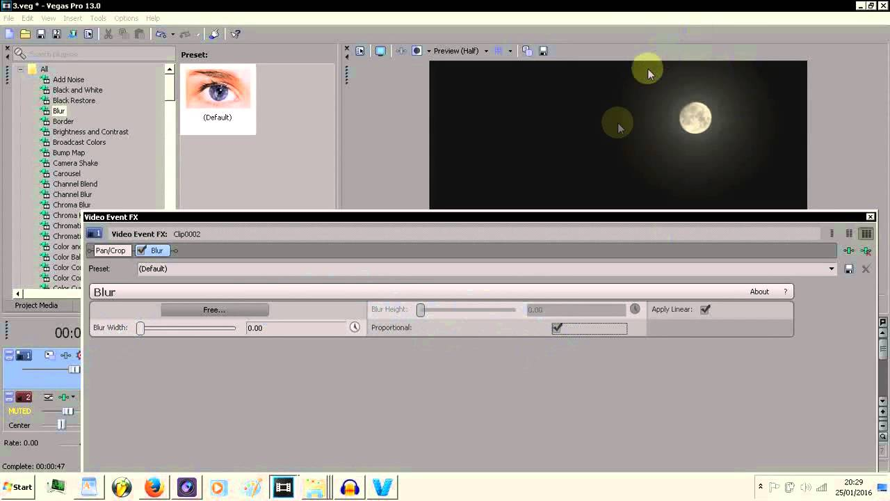 how to add effects in sony vegas pro 13