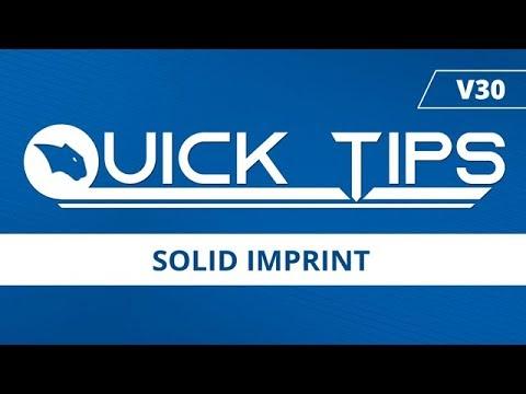 Solid Imprint - BobCAD CAM Quick Tip