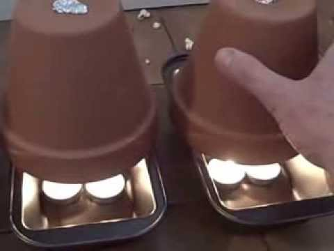 1KW Off Grid Domestic Heating!!! The Candle and Flowerpot Heater