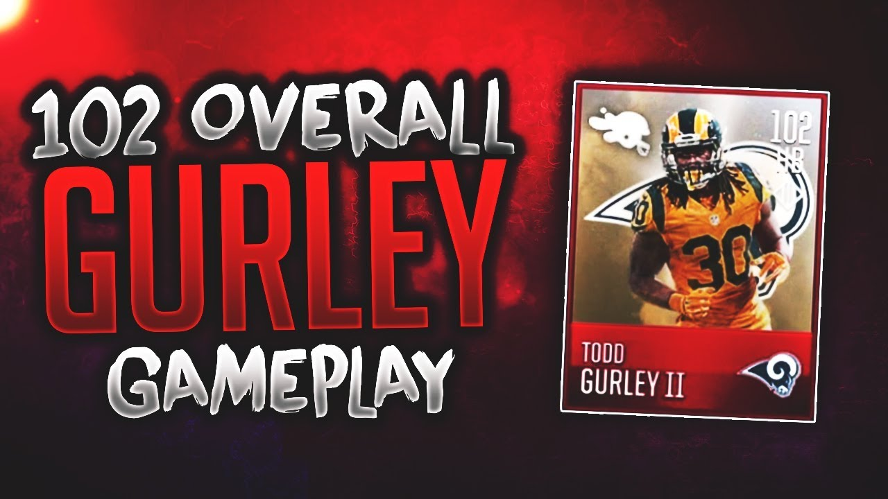 new product c572e 567af 102 OVERALL COLOR RUSH TODD GURLEY GAMEPLAY! 100+ OVERALL STATISTICS!  Madden Mobile 18