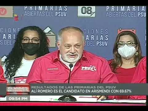 Nuevos resultados de primarias del PSUV: alcaldías y gobernaciones, leídos por Diosdado Cabello