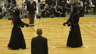 17th All Japan 8-dan Kendo Championships - QF3 - Matsumoto Masashi vs. Hayashi Satomi