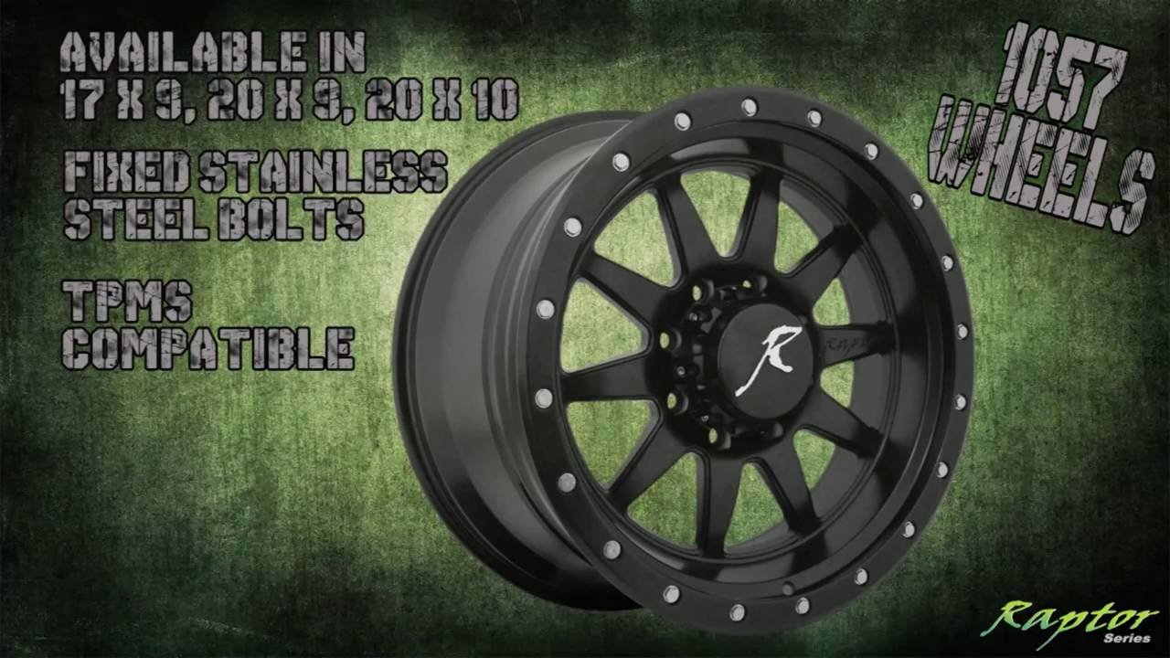Raptor Series 1057 Hit Run Wheels Rims